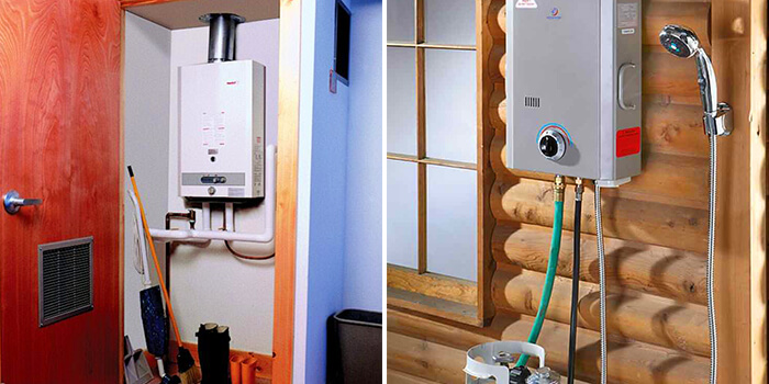 tankless water heater gas and electric model
